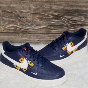 New Nike Air Force 1 Low Blue Nautical Sneakers
